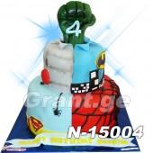 ტორტი სუპერ გმირები 15004