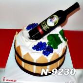 ტორტი ღვინის ბოთლით 9230