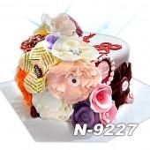 ტორტი ყვავილებით 9227
