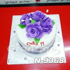 ტორტი ყვავილებით 9368