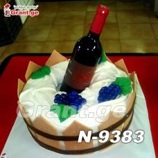 ტორტი ღვინის ბოთლით 9383