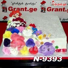 ტორტი ყვავილებით 9393