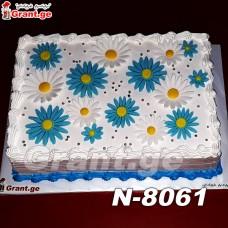 ტორტი ყვავილებით 8061