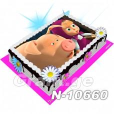 მაშა და დათვი ფოტო ტორტი 10660