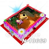 მაშა და დათვი ფოტო ტორტი 10669