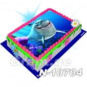 ზვიგენების საძმო ფოტო ტორტი 10704