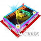 მონსტრების კორპორაცია ფოტო ტორტი 10802