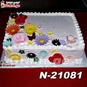 ტორტი ყვავილებით 21081
