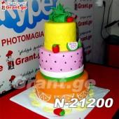 ტორტი ხილის ასორტი 21200