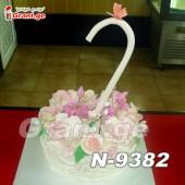 ტორტი ქოლგა ყვავილებით 9382