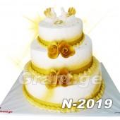საქორწილო ტორტი 2019