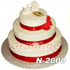 საქორწილო ტორტი 2000